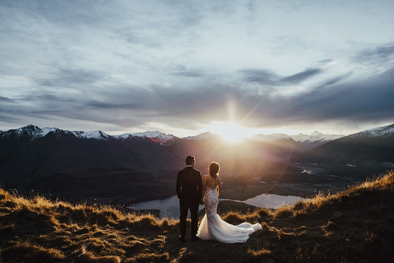 Vichi + Anthony Mountain Wedding, New Zealand Elopement Wedding Photographer